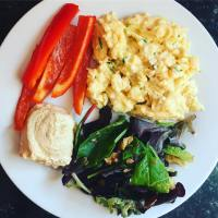 Courgette scrambled eggs
