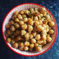 Roasted miso chickpeas